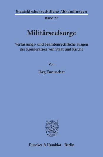 Cover: Militärseelsorge