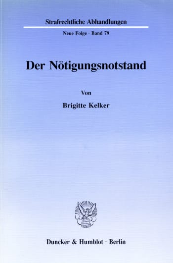 Cover: Der Nötigungsnotstand