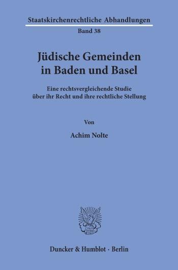 Cover: Jüdische Gemeinden in Baden und Basel
