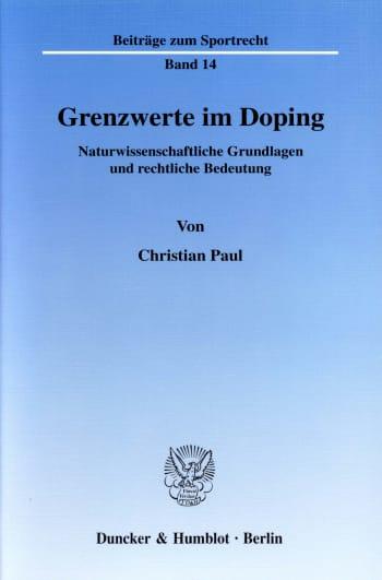 Cover: Grenzwerte im Doping