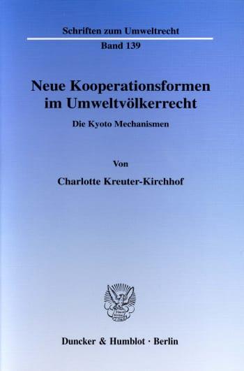 Cover: Neue Kooperationsformen im Umweltvölkerrecht