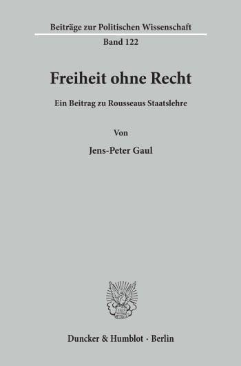 Cover: Freiheit ohne Recht