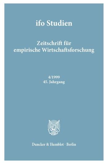 Cover: ifo Studien