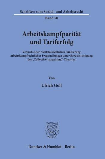 Cover: Arbeitskampfparität und Tariferfolg