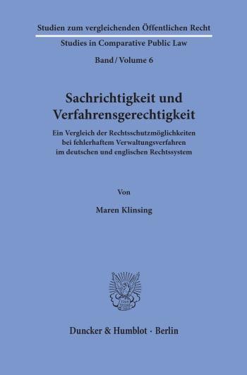Cover: Sachrichtigkeit und Verfahrensgerechtigkeit
