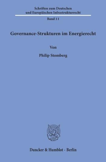 Cover: Governance-Strukturen im Energierecht