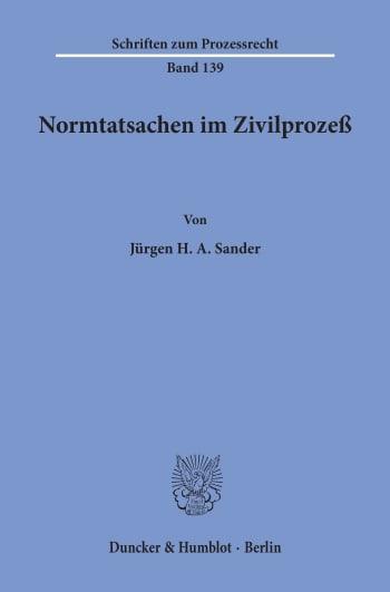 Cover: Normtatsachen im Zivilprozeß