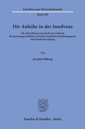 Cover: Die Anleihe in der Insolvenz
