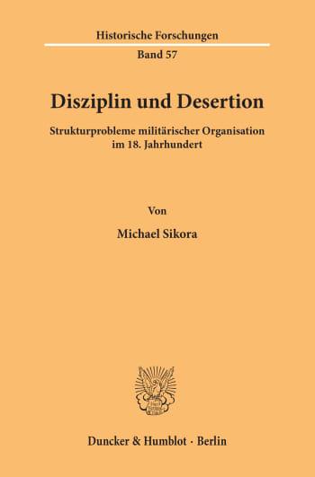 Cover: Disziplin und Desertion