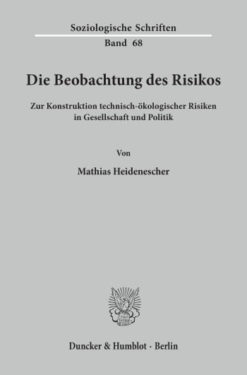 Cover: Die Beobachtung des Risikos
