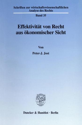 Cover: Effektivität von Recht aus ökonomischer Sicht