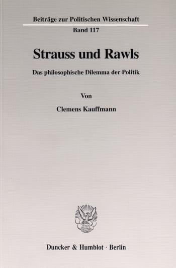 Cover: Strauss und Rawls