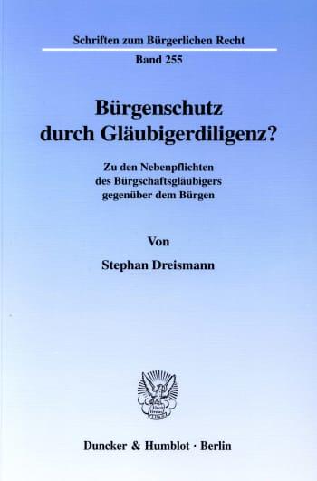 Cover: Bürgenschutz durch Gläubigerdiligenz?