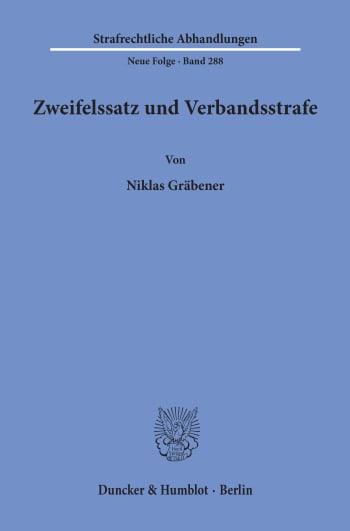 Cover: Zweifelssatz und Verbandsstrafe