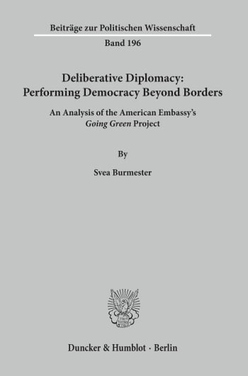 Cover: Deliberative Diplomacy: Performing Democracy Beyond Borders