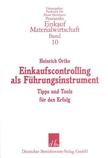 Cover: Einkaufscontrolling als Führungsinstrument