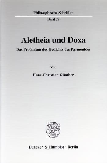 Cover: Aletheia und Doxa