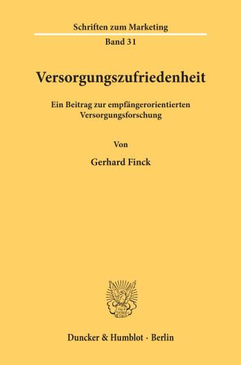 Cover: Versorgungszufriedenheit