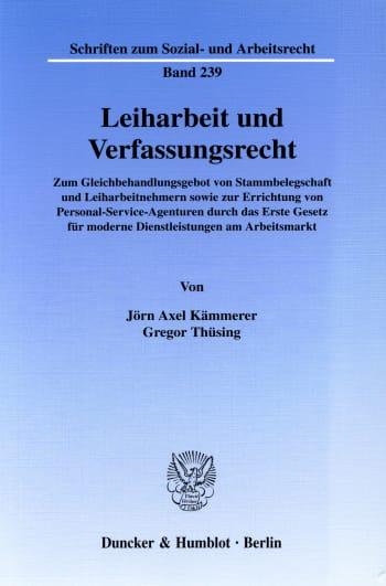 Cover: Leiharbeit und Verfassungsrecht