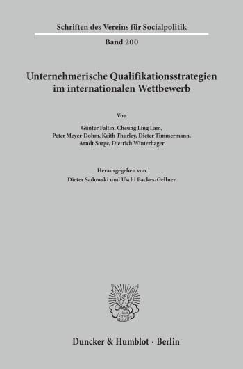 Cover: Unternehmerische Qualifikationsstrategien im internationalen Wettbewerb