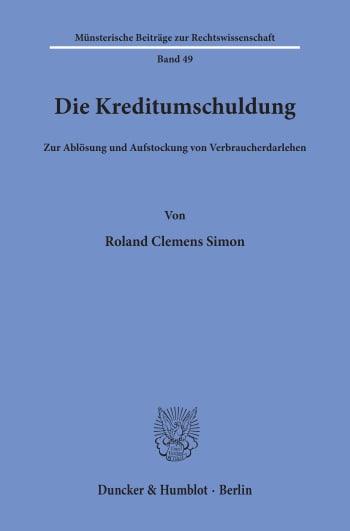 Cover: Die Kreditumschuldung