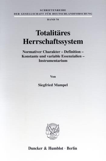 Cover: Totalitäres Herrschaftssystem
