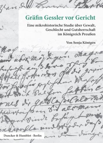 Cover: Gräfin Gessler vor Gericht
