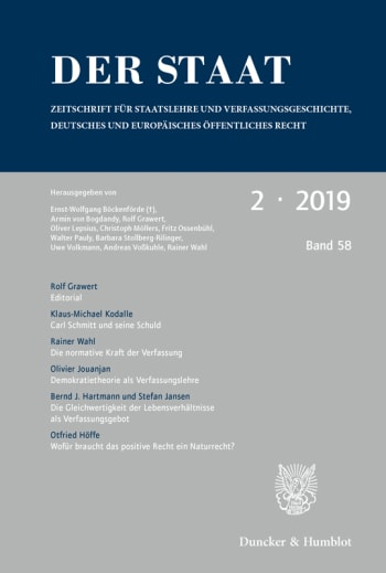 Cover: Der Staat (STAAT)