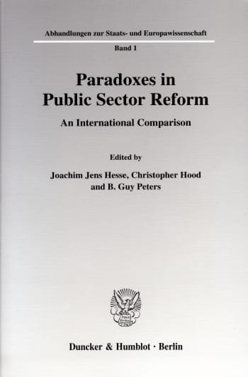 Cover: Paradoxes in Public Sector Reform: An International Comparison