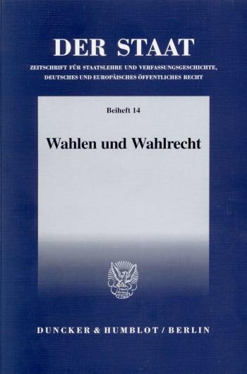 Cover: Wahlen und Wahlrecht