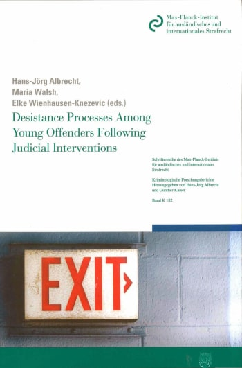 Cover: Desistance Processes Among Young Offenders Following Judicial Interventions