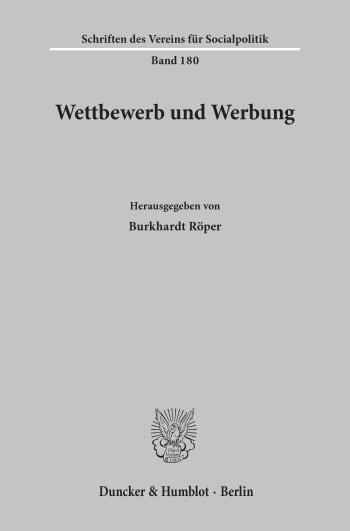Cover: Wettbewerb und Werbung