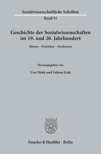 Cover: Geschichte der Sozialwissenschaften im 19. und 20. Jahrhundert