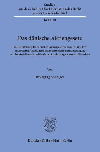 Cover: Studien aus dem Walther-Schücking-Institut für Internationales Recht an der Universität Kiel (SIIR)