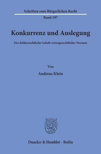Cover: Konkurrenz und Auslegung