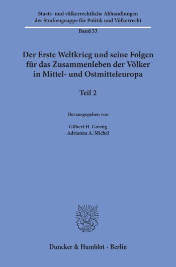 Cover: Staats- und völkerrechtliche Abhandlungen der Studiengruppe für Politik und Völkerrecht (SVA)