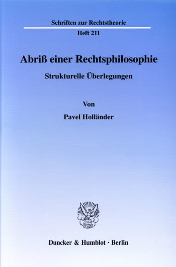Cover: Abriß einer Rechtsphilosophie