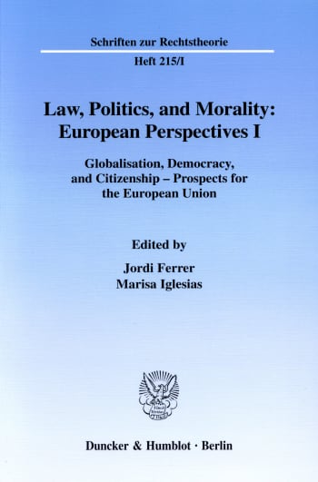Cover: Law, Politics, and Morality: European Perspectives I