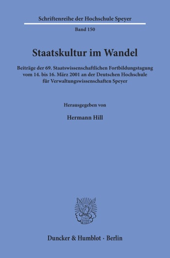 Cover: Staatskultur im Wandel