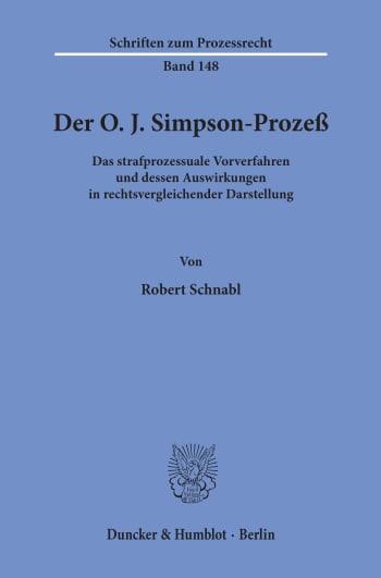 Cover: Der O. J. Simpson-Prozeß