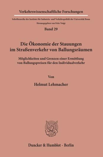 Cover: Verkehrswissenschaftliche Forschungen (VWF)