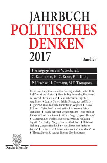 Cover: Politisches Denken. Jahrbuch 2017