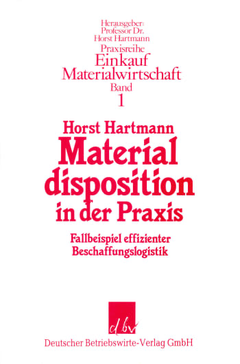 Cover: Materialdisposition in der Praxis