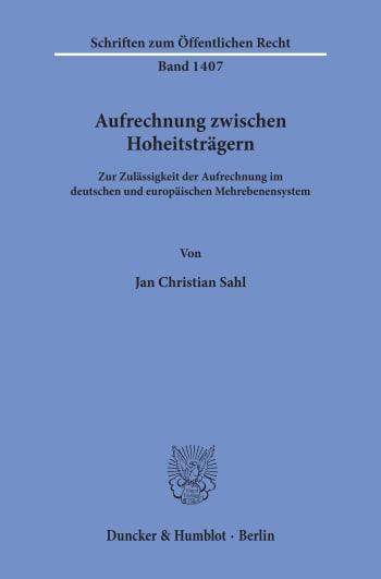 Cover: Aufrechnung zwischen Hoheitsträgern