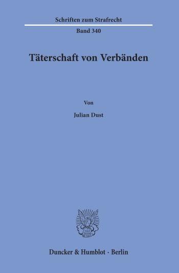 Cover: Täterschaft von Verbänden