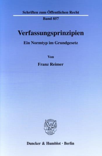 Cover: Verfassungsprinzipien