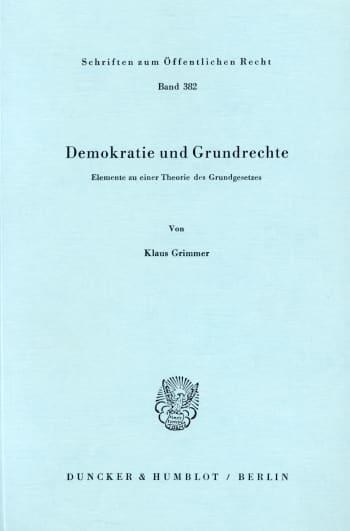 Cover: Demokratie und Grundrechte
