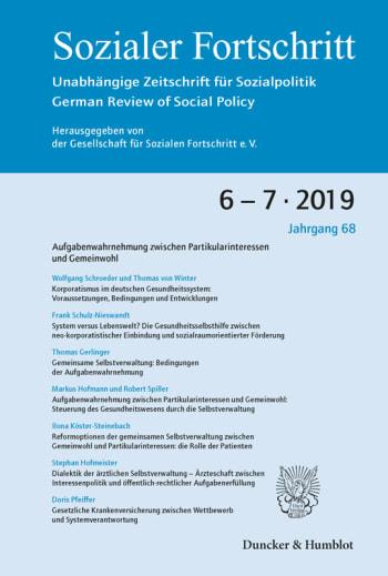 Cover: Aufgabenwahrnehmung zwischen Partikularinteressen und Gemeinwohl