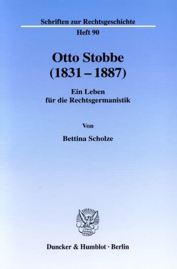 Cover: Otto Stobbe (1831-1887)