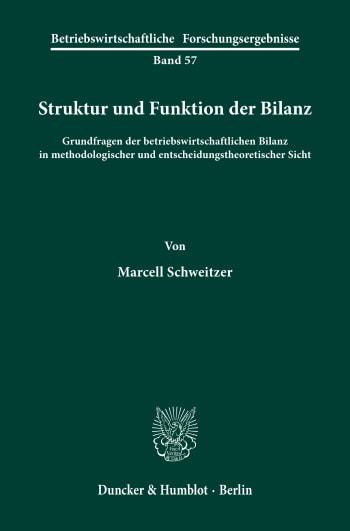 Cover: Struktur und Funktion der Bilanz